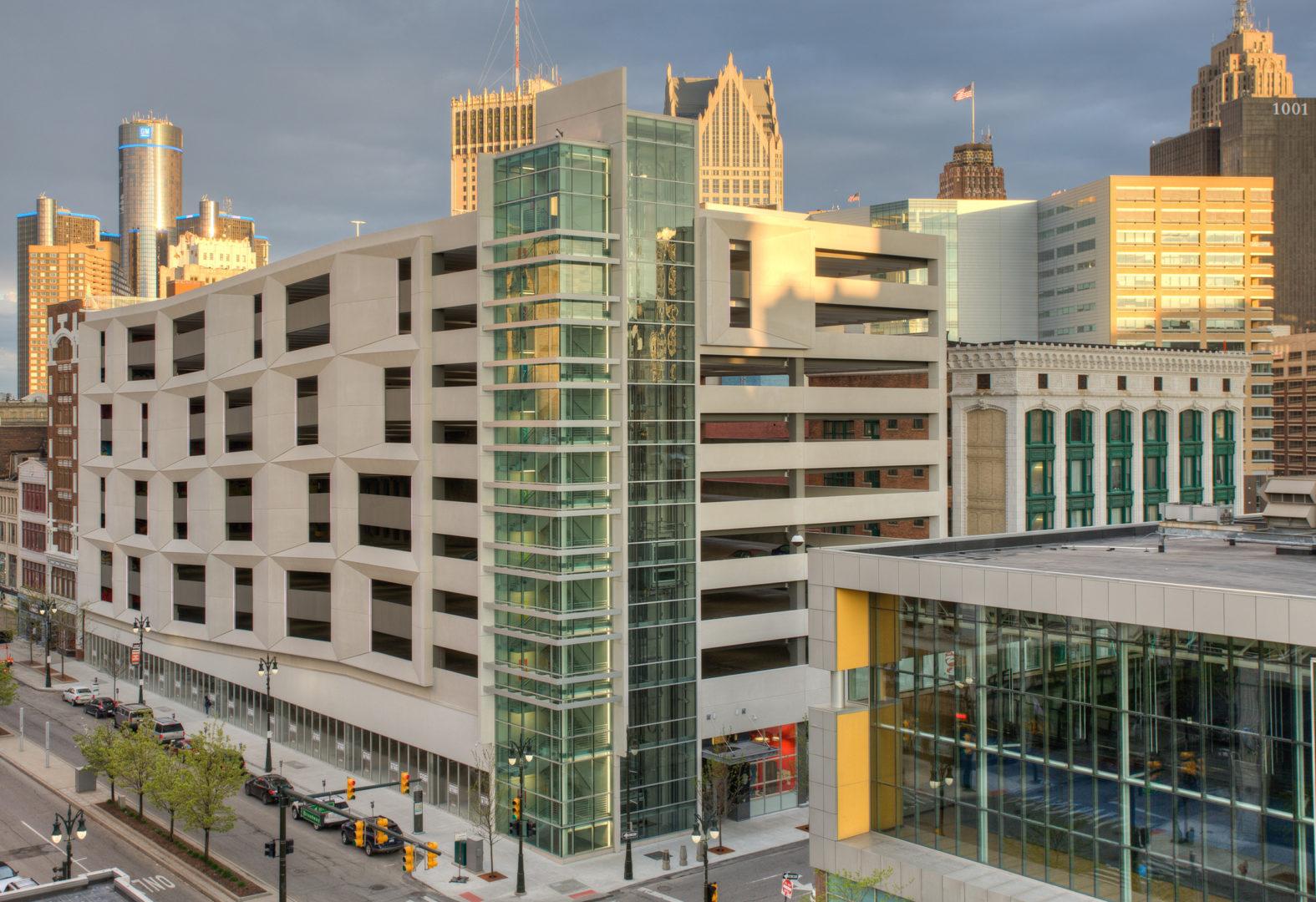 parking structure, parking, Detroit, parking consultants, architecture, engineer, parking garage